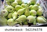 the bottle gourd on the market   Shutterstock . vector #562196578
