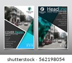 blue flyer cover business... | Shutterstock .eps vector #562198054