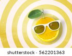 Smile Orange Wearing Sunglasse...