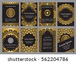 vector templates with mandala... | Shutterstock .eps vector #562204786