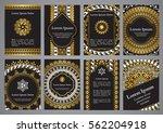vector templates with mandala... | Shutterstock .eps vector #562204918