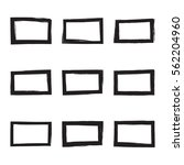 set hand drawn rectangle  photo ... | Shutterstock .eps vector #562204960