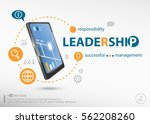 leadership word cloud concept... | Shutterstock .eps vector #562208260