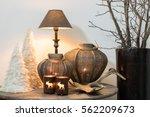 still life with winter home... | Shutterstock . vector #562209673
