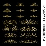 gold vintage decor elements and ... | Shutterstock .eps vector #562209709