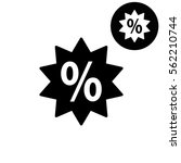percent    white vector icon