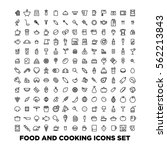 food and cooking icons set | Shutterstock .eps vector #562213843