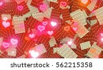 chocolate and heart transition. ... | Shutterstock . vector #562215358