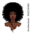 young sexy dark skinned women.... | Shutterstock .eps vector #562216360