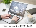 home smart system automated... | Shutterstock . vector #562219618