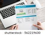 report credit score banking... | Shutterstock . vector #562219630