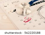 closeup doctor appointment on...   Shutterstock . vector #562220188