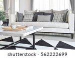 modern living room interior... | Shutterstock . vector #562222699