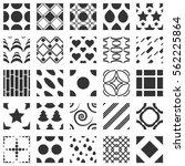 set of 25 geometric seamless... | Shutterstock .eps vector #562225864