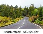 scenic road on island sao... | Shutterstock . vector #562228429
