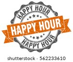 happy hour. stamp. sticker.... | Shutterstock .eps vector #562233610