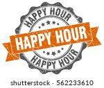 happy hour. stamp. sticker.... | Shutterstock .eps vector #562233610
