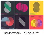 Simplicity Geometric Design Set Clean Lines and Forms In Yellow Pink color | Shutterstock vector #562235194