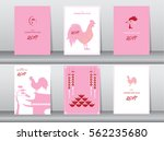 collection of chinese new year... | Shutterstock .eps vector #562235680