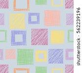 seamless vector geometrical... | Shutterstock .eps vector #562239196