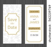 modern wedding invitation with... | Shutterstock .eps vector #562239769
