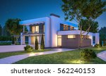 3d rendering of modern cozy... | Shutterstock . vector #562240153