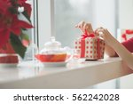 valentine's day concept. a... | Shutterstock . vector #562242028