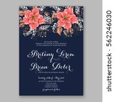 wedding invitations with... | Shutterstock .eps vector #562246030