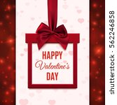 happy valentines day greeting... | Shutterstock .eps vector #562246858