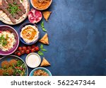 middle eastern or arabic dishes ... | Shutterstock . vector #562247344