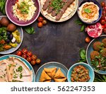middle eastern or arabic dishes ... | Shutterstock . vector #562247353