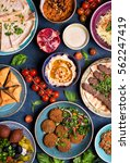 middle eastern or arabic dishes ... | Shutterstock . vector #562247419