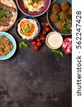 middle eastern or arabic dishes ... | Shutterstock . vector #562247428