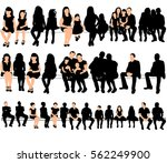 silhouette of people and... | Shutterstock .eps vector #562249900