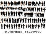 silhouette of people and... | Shutterstock .eps vector #562249930