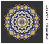 vintage colorful mandala with... | Shutterstock .eps vector #562255594
