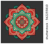 vintage colorful mandala with... | Shutterstock .eps vector #562255810
