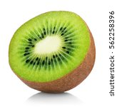 Single Half Of Ripe Juicy Kiwi...