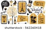 valentines day hand drawn ...   Shutterstock .eps vector #562260418