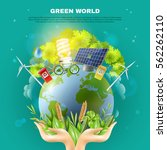 green world awareness concept... | Shutterstock .eps vector #562262110