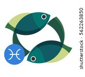 pisces astrology sign isolated... | Shutterstock .eps vector #562263850