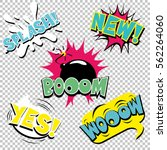 set of comic text  pop art... | Shutterstock .eps vector #562264060