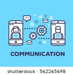 vector business illustration of ... | Shutterstock .eps vector #562265698
