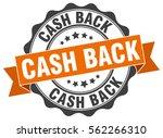 cash back. stamp. sticker. seal.... | Shutterstock .eps vector #562266310