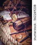 vintage still life. travel... | Shutterstock . vector #562269238
