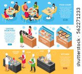 three food court horizontal... | Shutterstock .eps vector #562271233