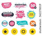 sale shopping banners. special... | Shutterstock .eps vector #562278319