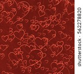 hearts background | Shutterstock . vector #562278820