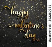 valentine's day background with ... | Shutterstock .eps vector #562280386