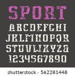 serif font and numerals in... | Shutterstock .eps vector #562281448